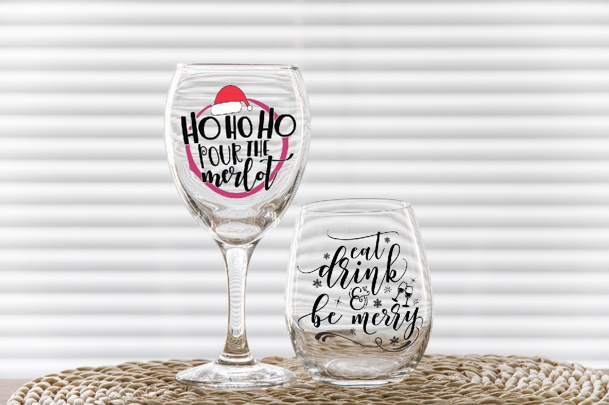 PSD stemless and wine glass mockup 2 wineglasses mockups example image 4