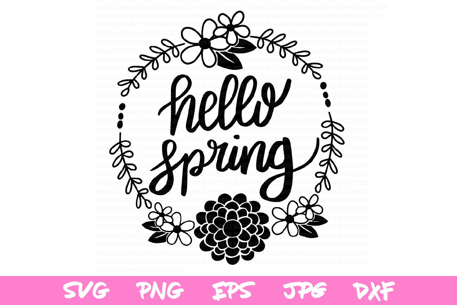 Spring svg, svg cut files, hello spring cut files, cricut example image 2