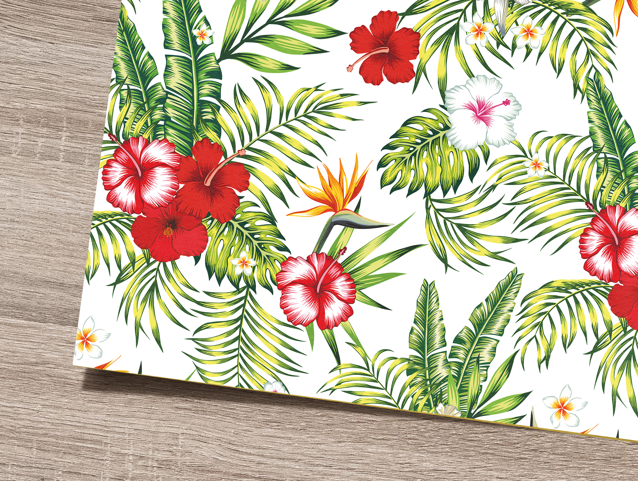 Tropical flowers and leaves pattern. Seamless design. example image 7