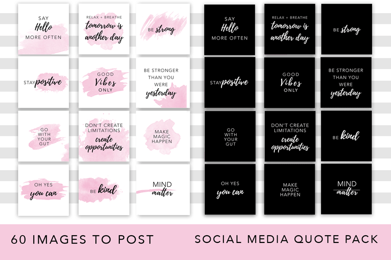 Girl Boss Instagram Quote Pack example image 2