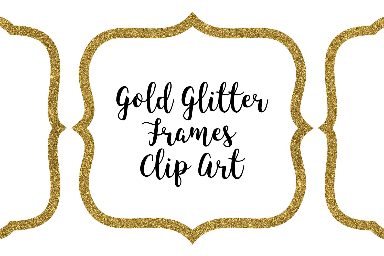 Gold Glitter Frames Clip Art example image 1