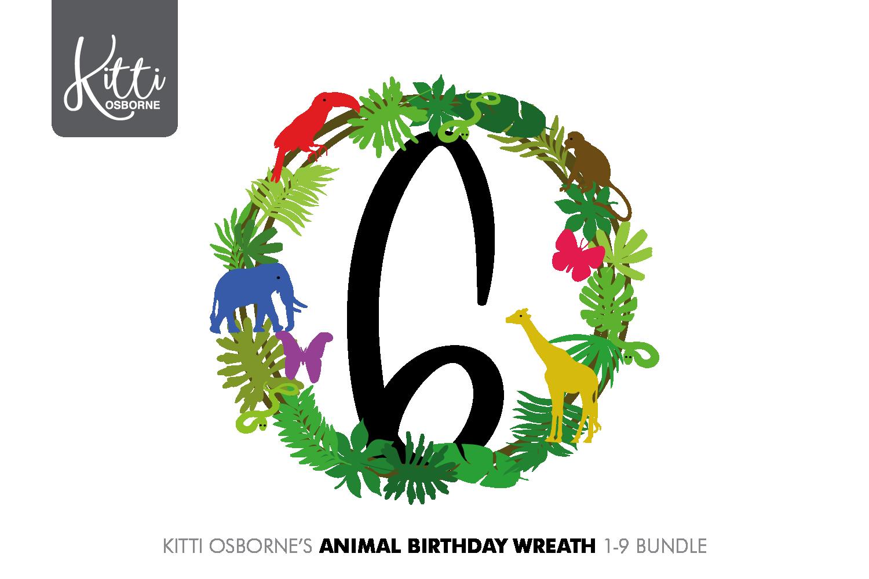 Animal Birthday Wreath 1-9 Bundle example image 5