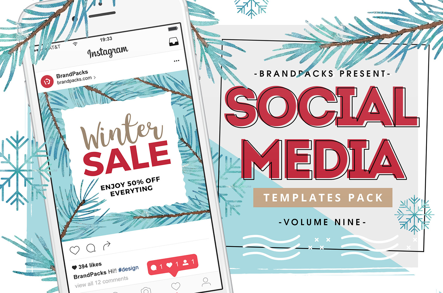 Winter Social Media Templates example image 1
