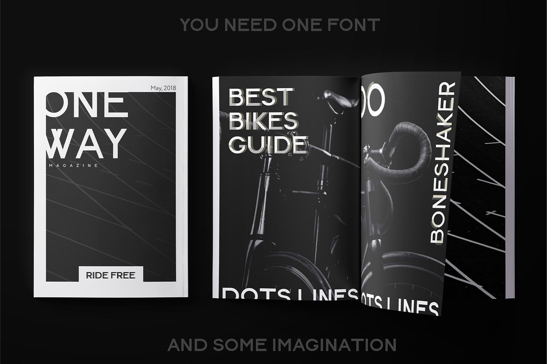 DOTS & LINES uppercase modern font example image 10