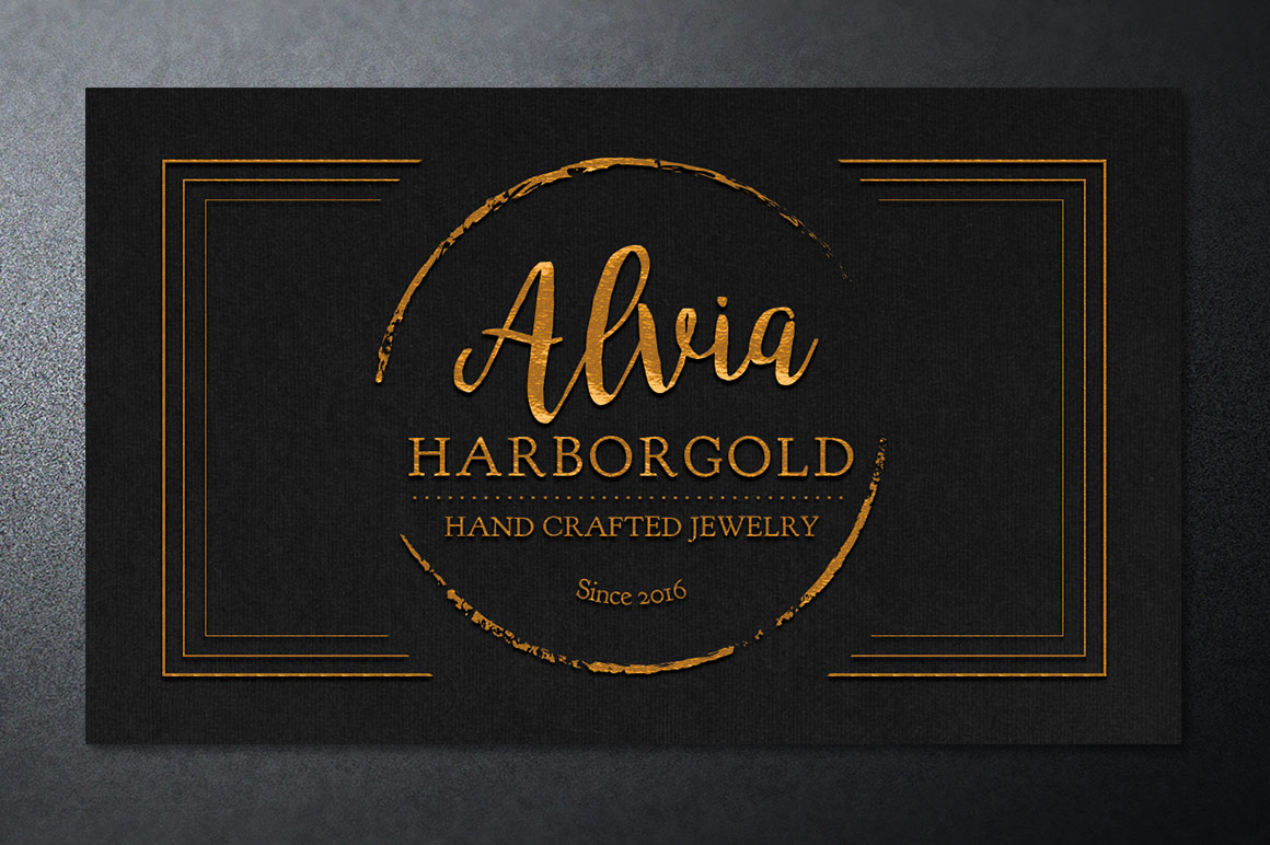 Jewelry Store Business Card Photoshop Template example image 3