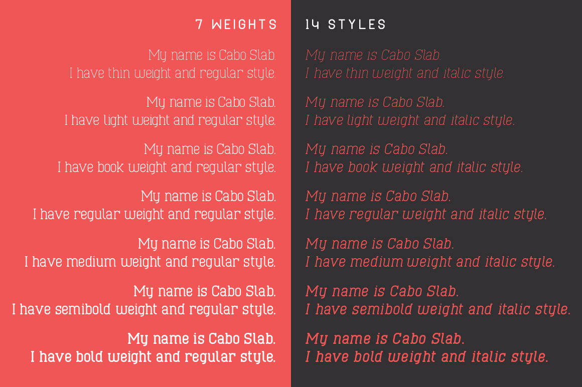 Cabo Slab Font Family example image 5