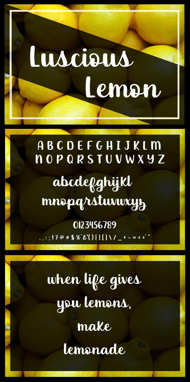 Luscious Lemon - A thick script font example image 9