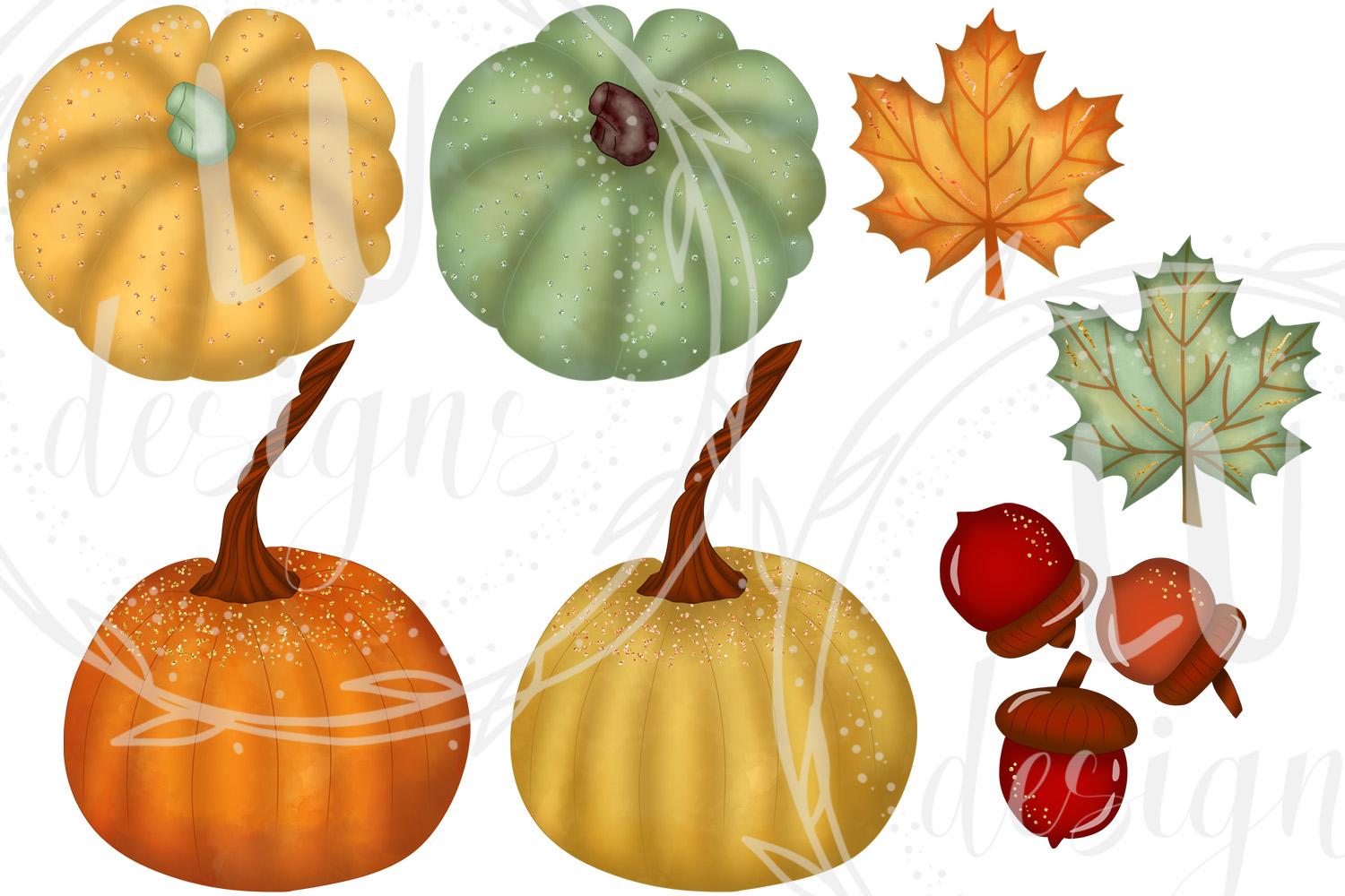 Fall Clipart, Autumn Graphics, Harvest Pumpkins Clipart example image 4