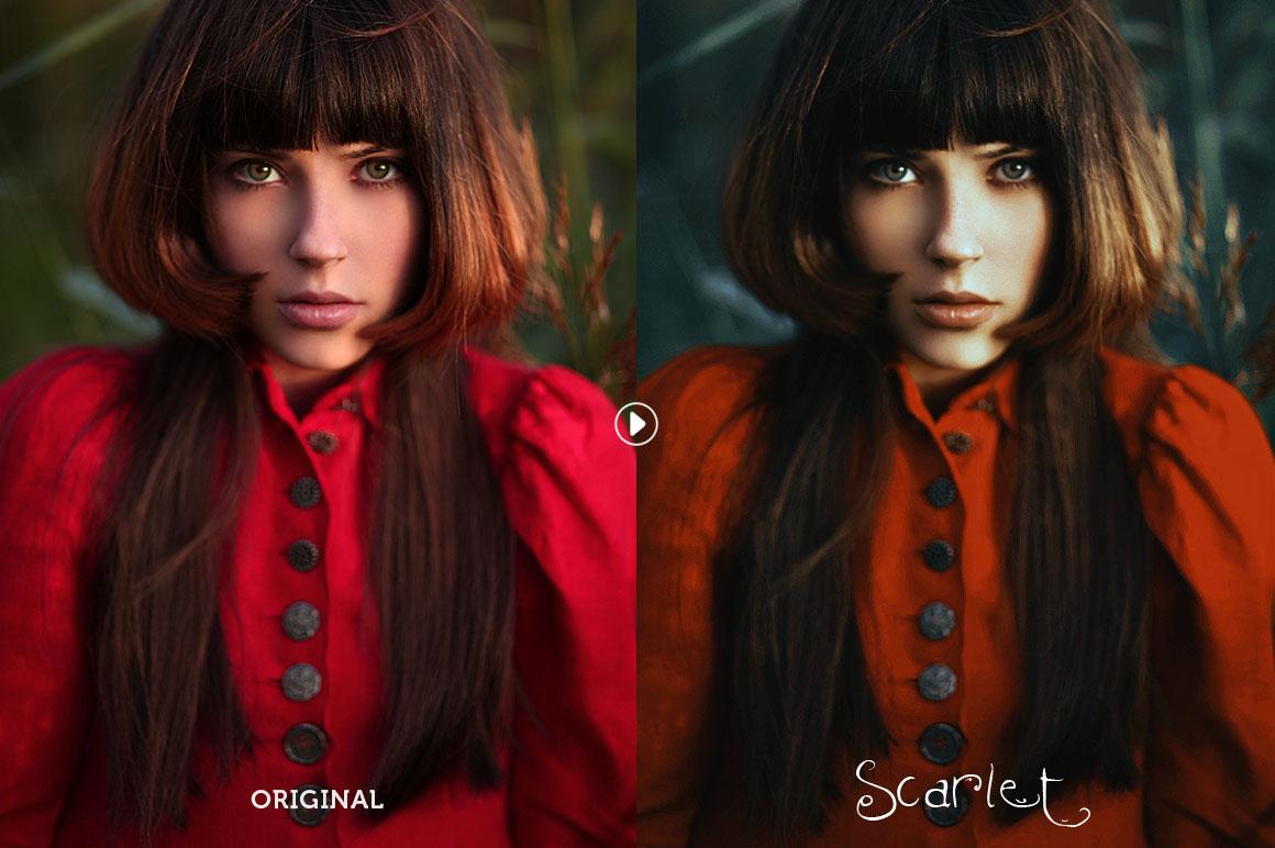 Scarlet Fantasy Photoshop Action example image 2