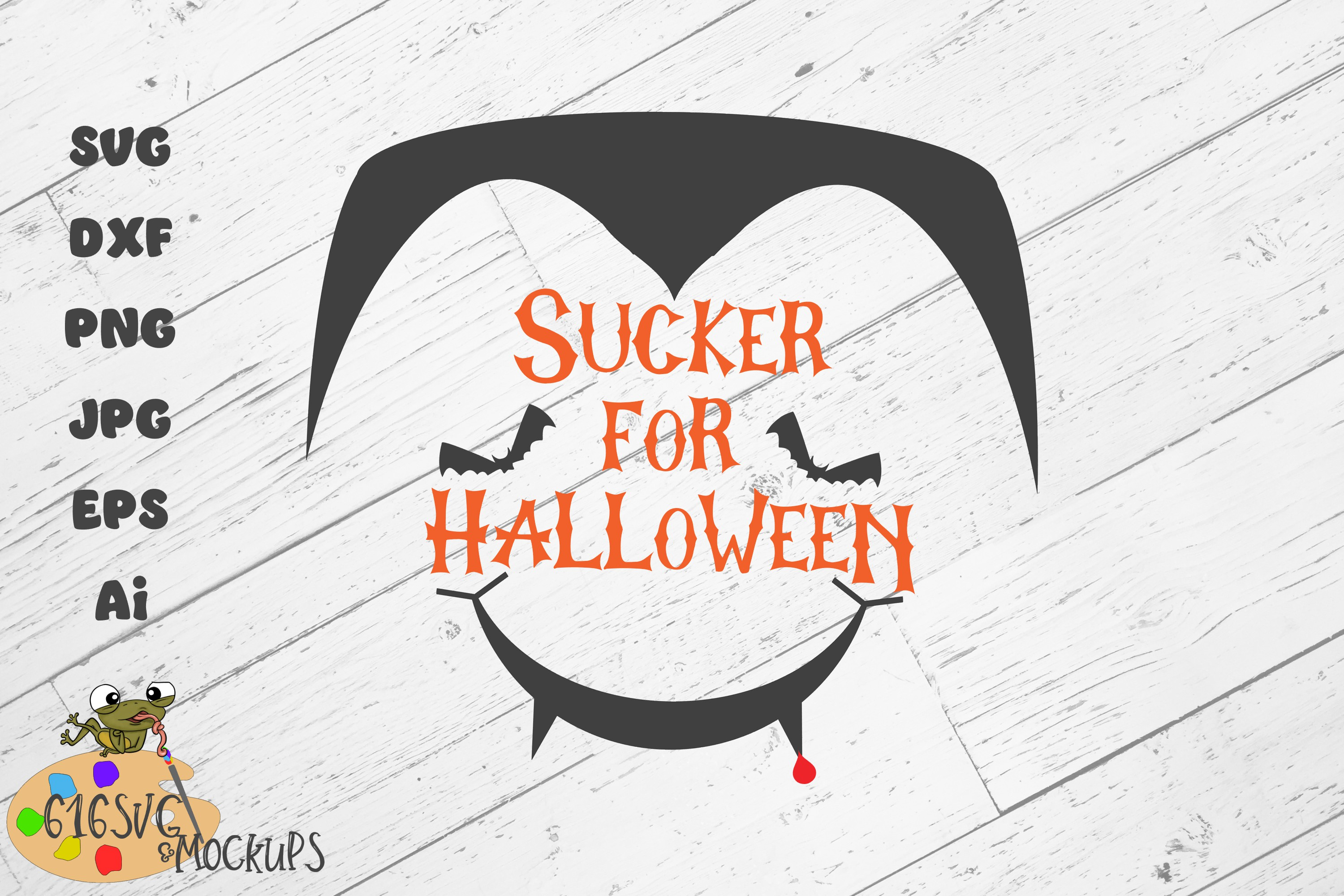 Sucker For Halloween SVG, DXF, Ai, PNG example image 3