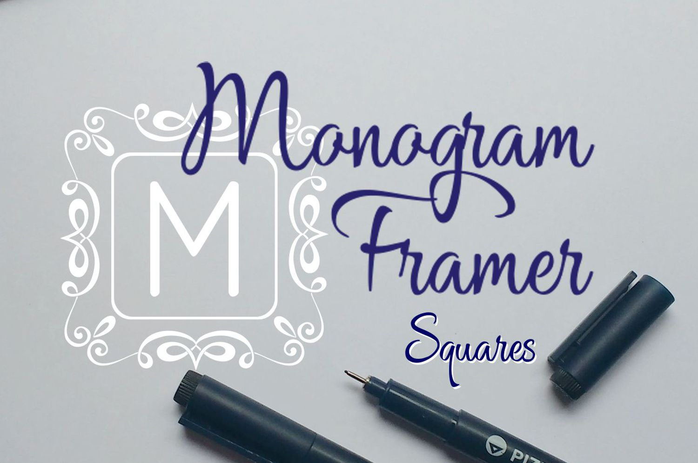 Square Monogram Framer example image 1