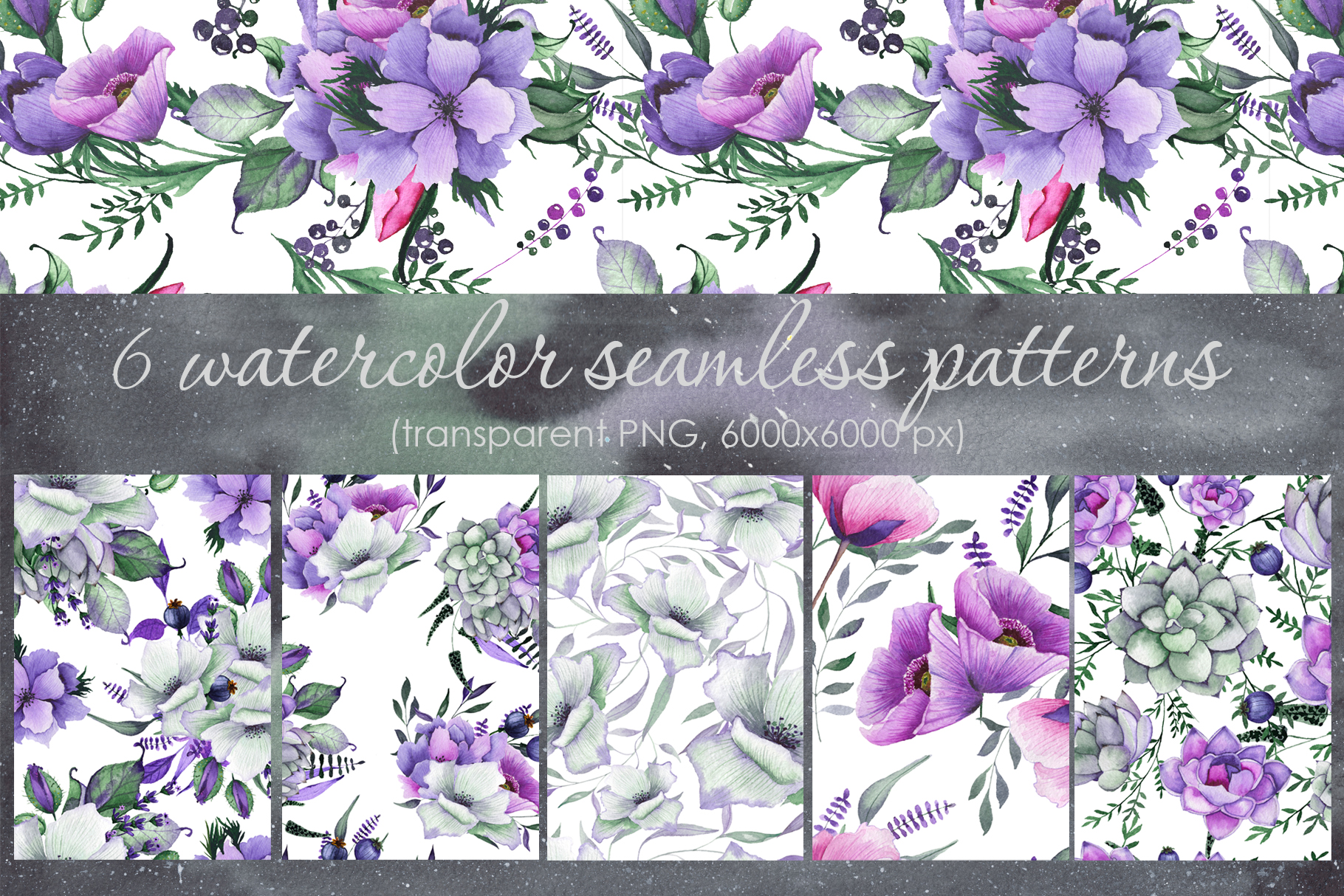 Floral purple green wedding collection example image 11