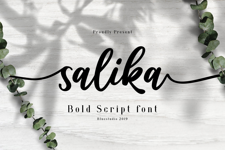 Salika // Bold Script Font example image 1