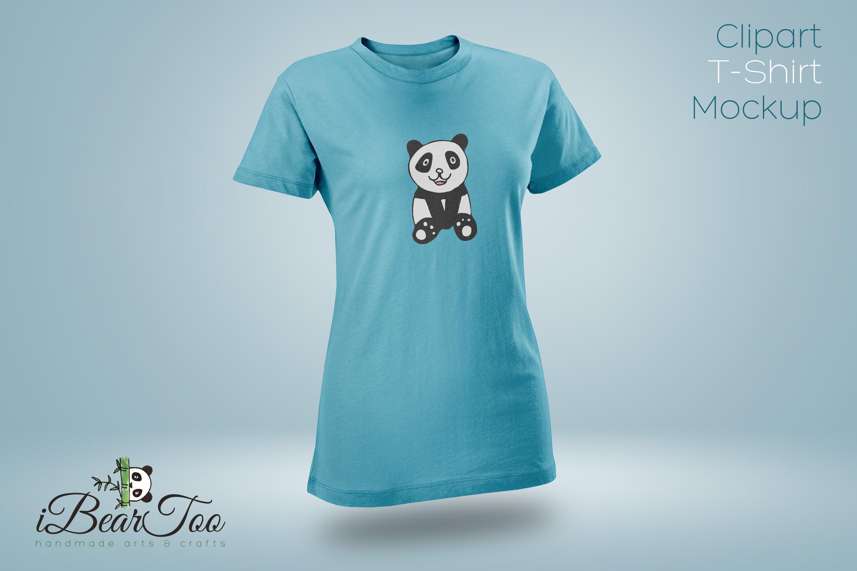 Panda SVG Watercolor Clipart Bear Drawing Vector Cut File example image 9
