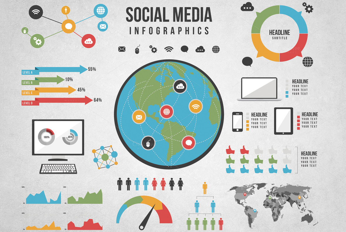 Social Media Infographic example image 1