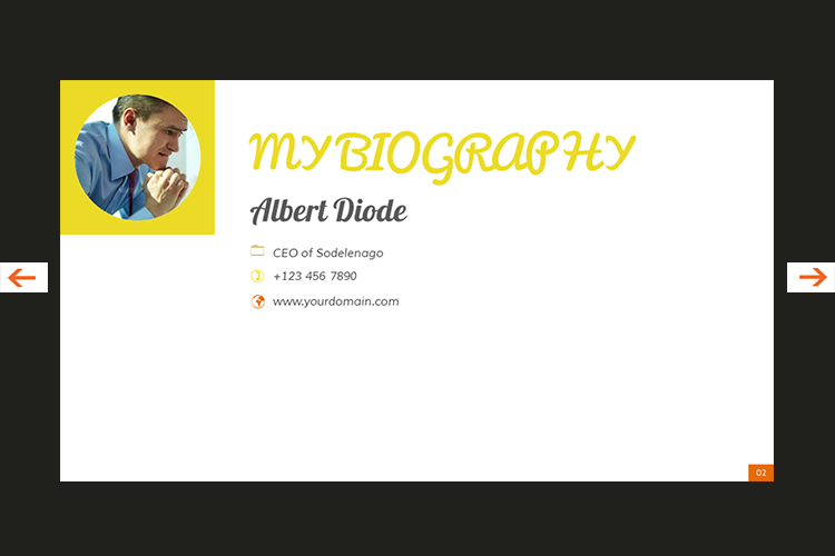 The Biography Presentation Templates example image 3