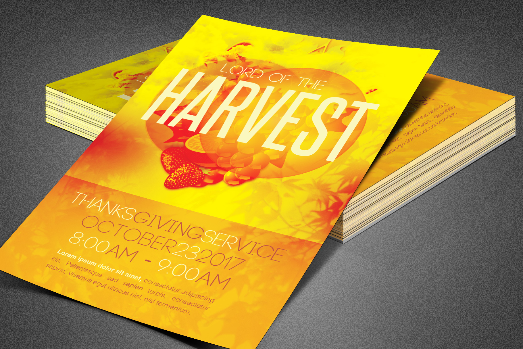 Lord of the Harvest Church Flyer example image 2
