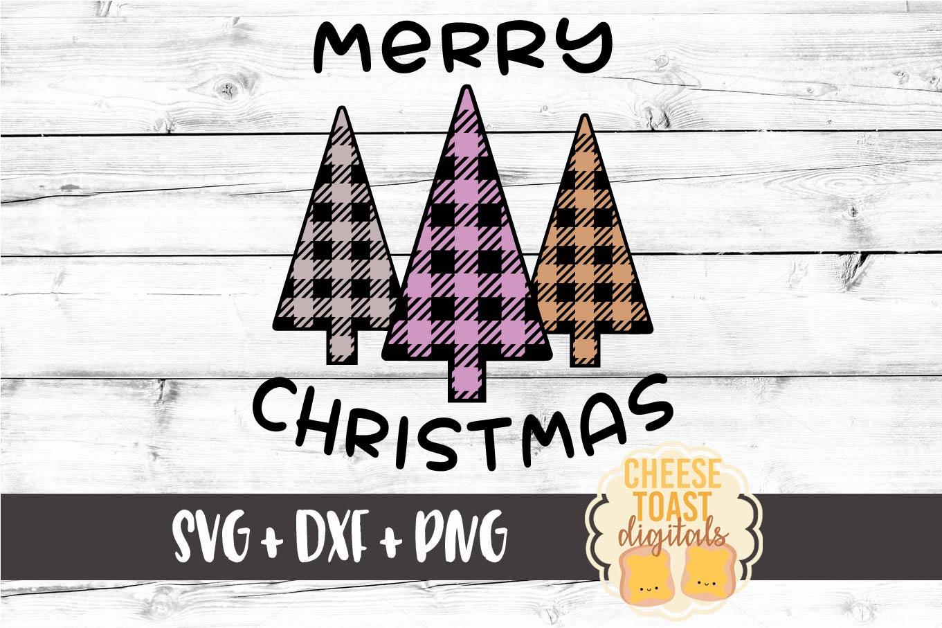 Merry Christmas Buffalo Plaid Trees - Christmas SVG Files example image 3