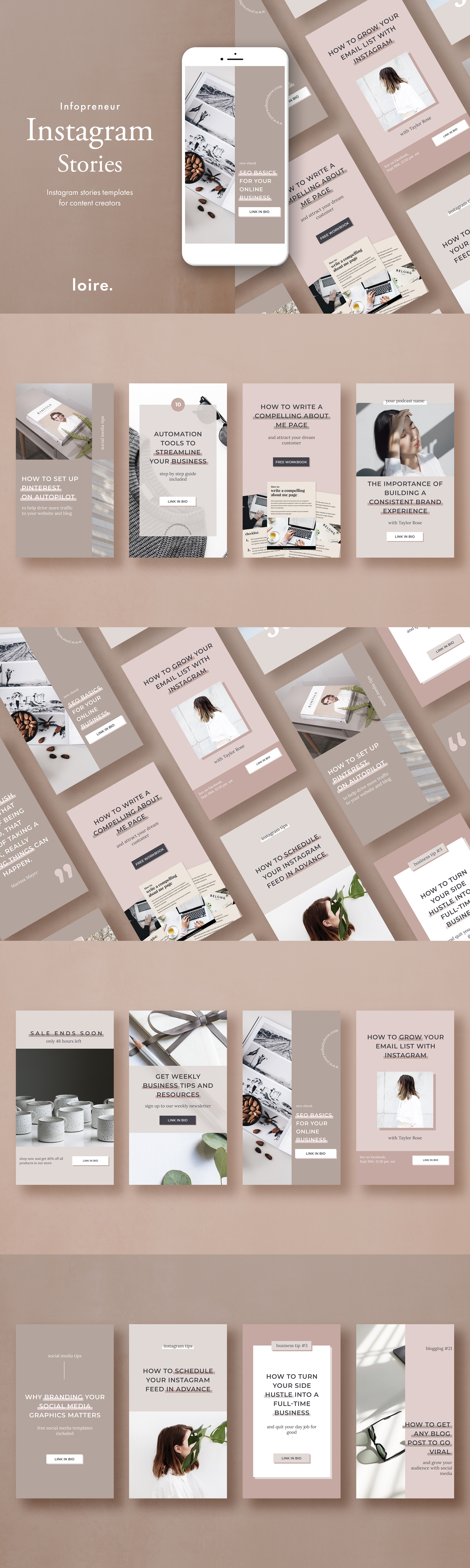 Instagram stories template pack for bloggers example image 7