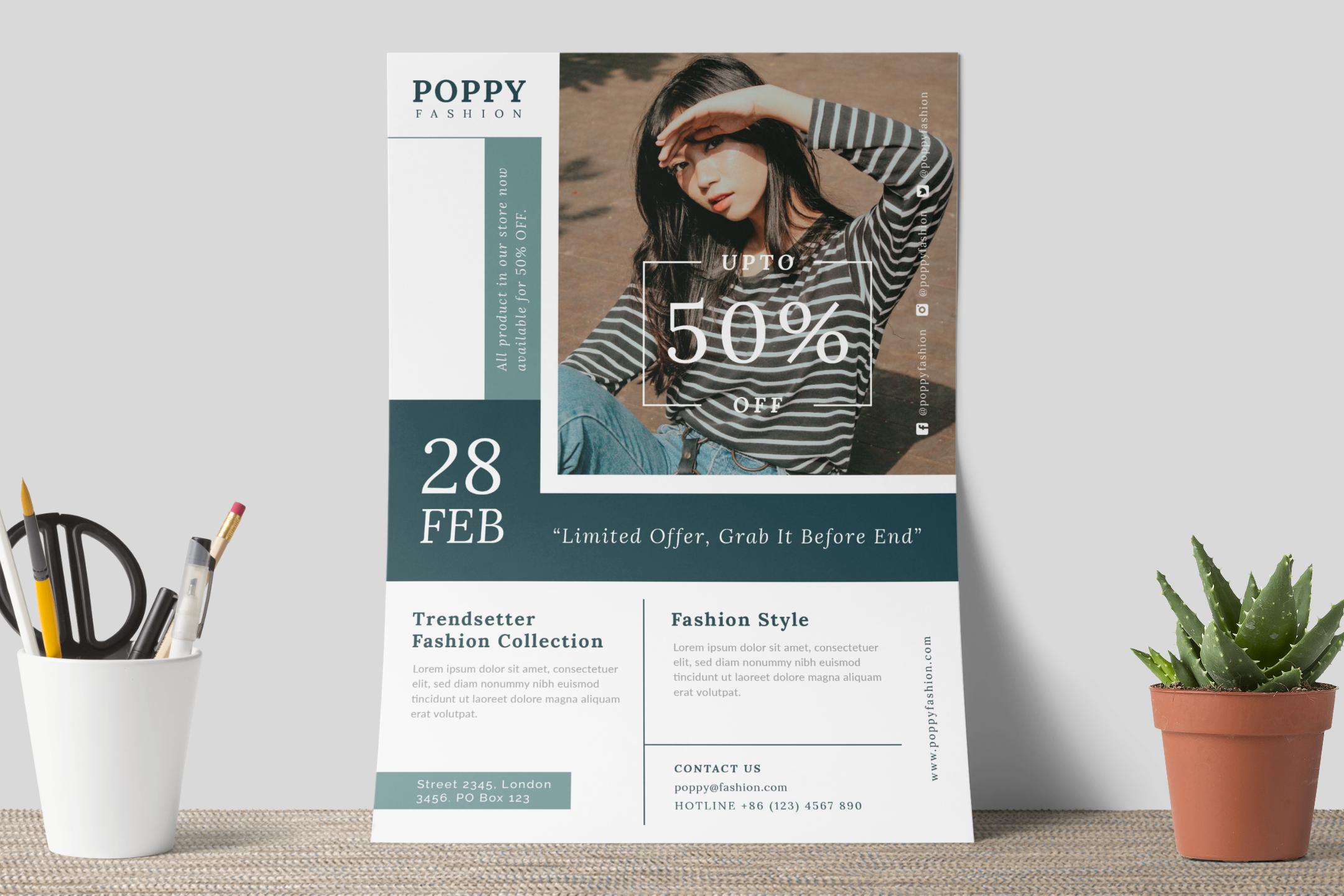 Poppy - Fashion flyer example image 8