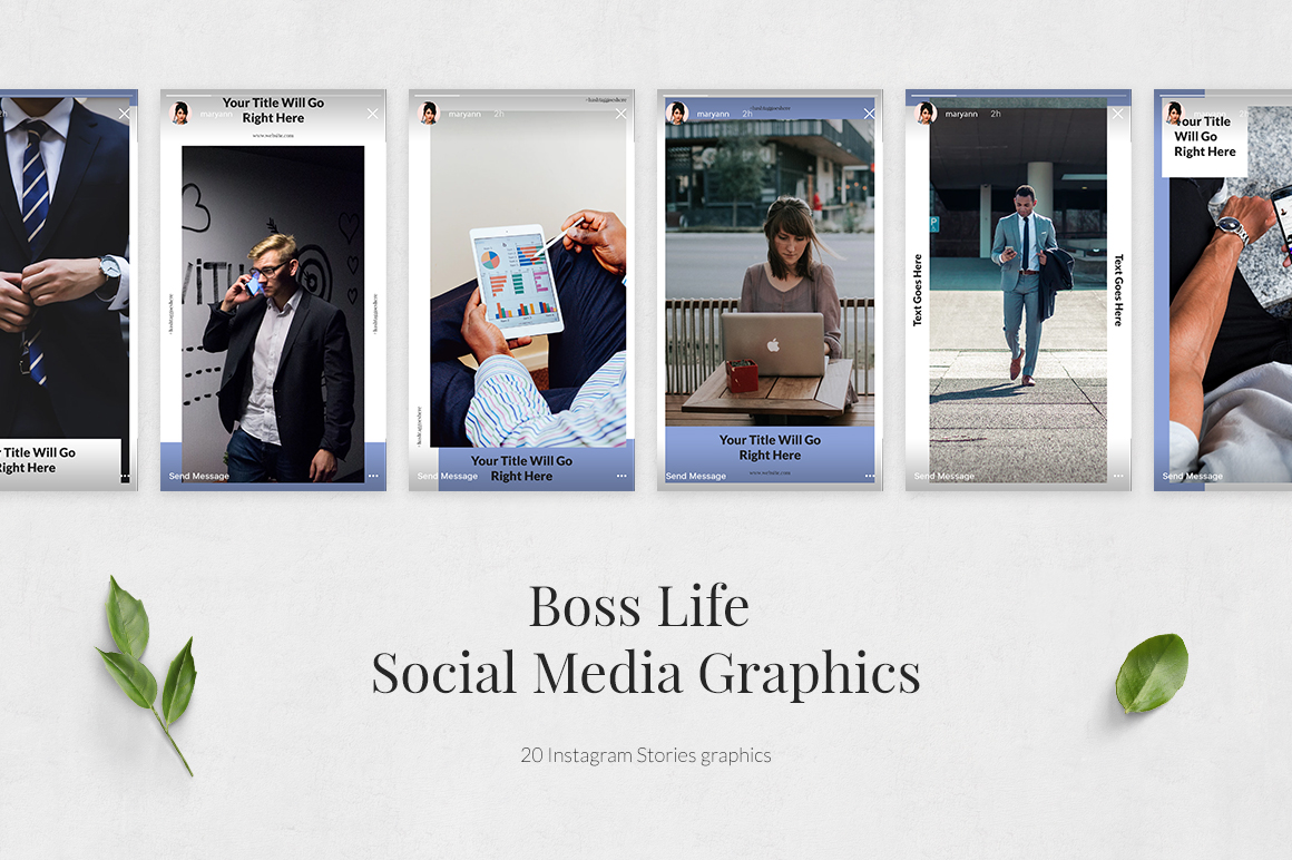 Boss Life Animated Instagram Stories example image 2