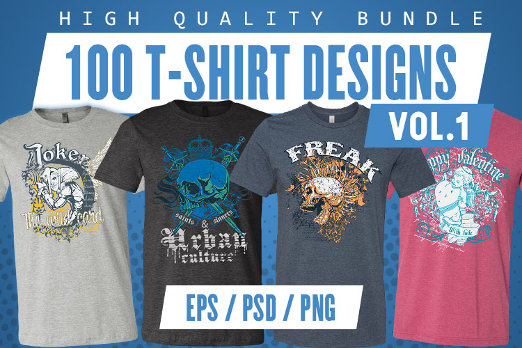 100 T-shirt Designs Vol 1 example image 1
