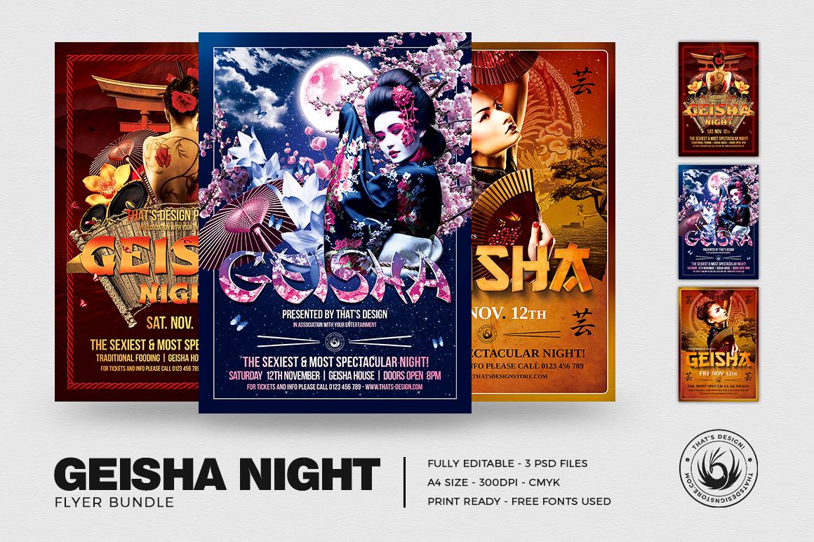 Geisha Night Flyer Bundle example image 1