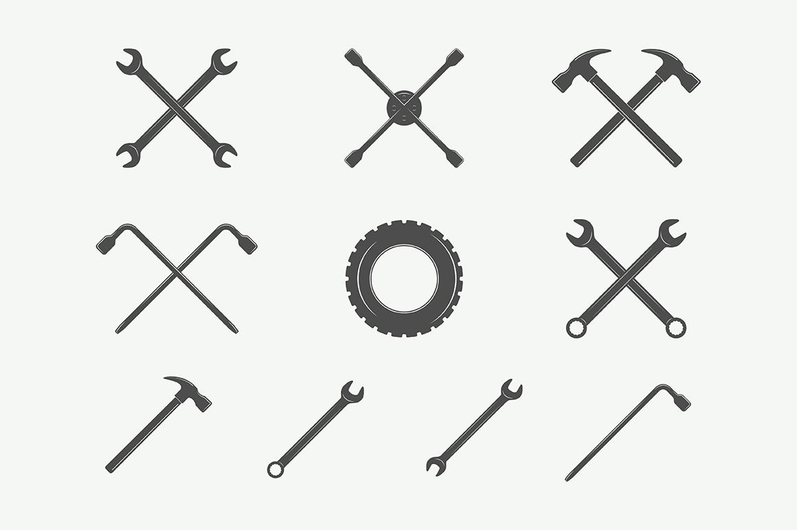 Mechanic and Car Repair Emblems Bundle example image 2