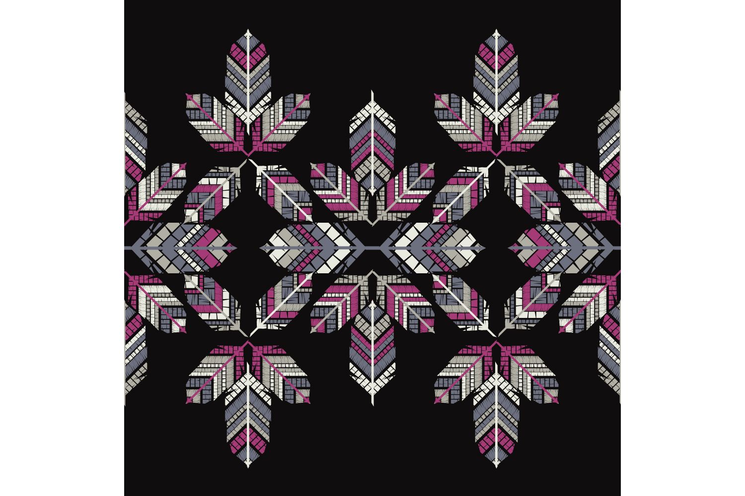 Indian colorful feathers. Set of 10 seamless patterns. example image 9
