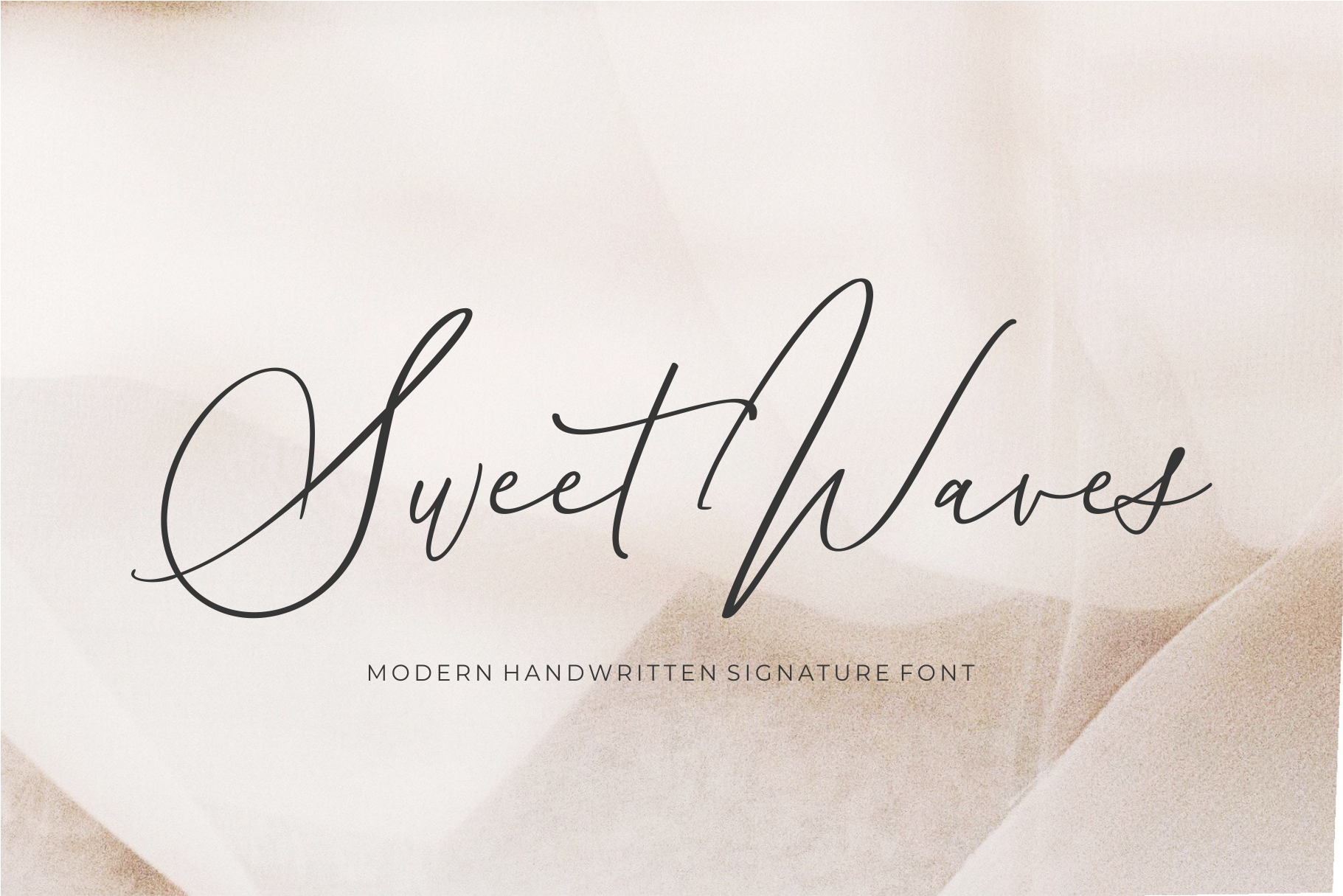 Sweet Waves - Luxury Handwritten example image 1