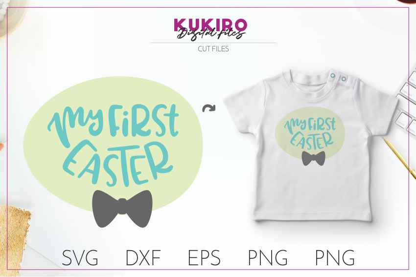 My first EASTER SVG - boy cut file SVG DXF EPS PNG JPG example image 1