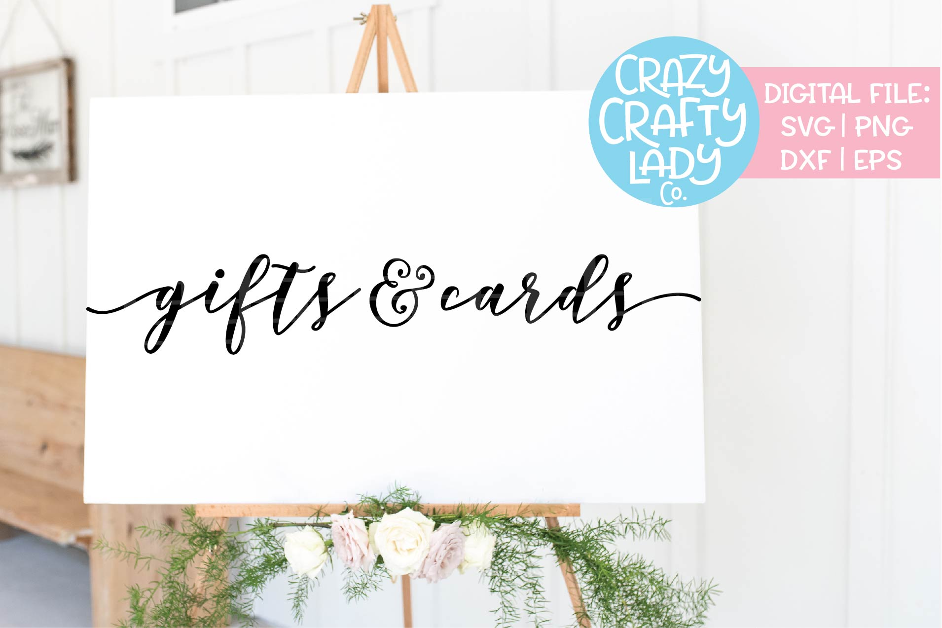 Gifts & Cards Wedding SVG DXF EPS PNG Cut File example image 1