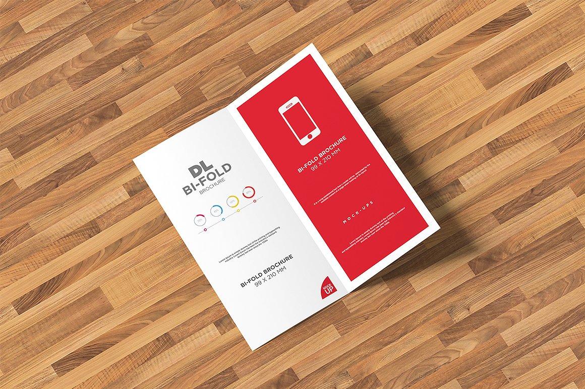 DL Bi-fold Brochure Mock-Up example image 12