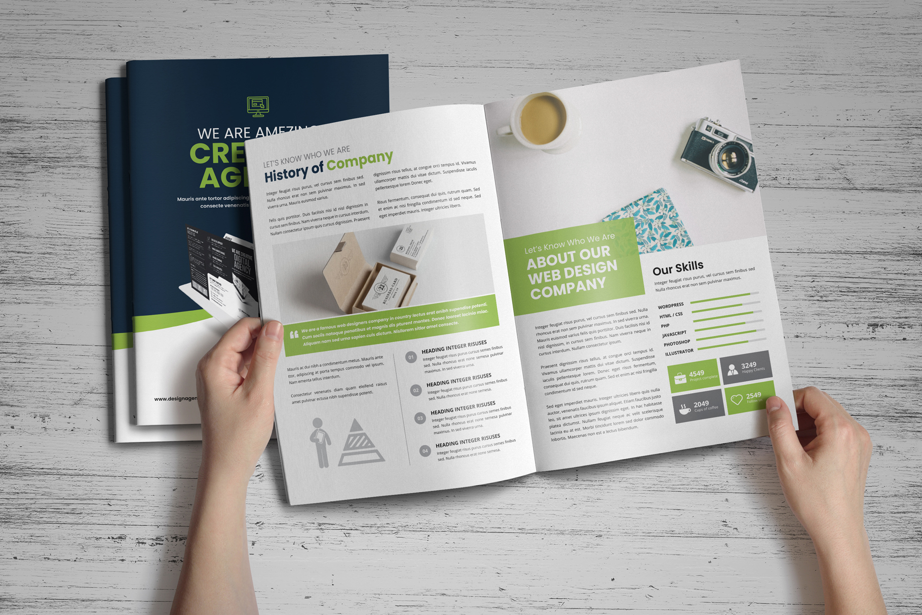 Portfolio Bifold Brochure Design v1 example image 13