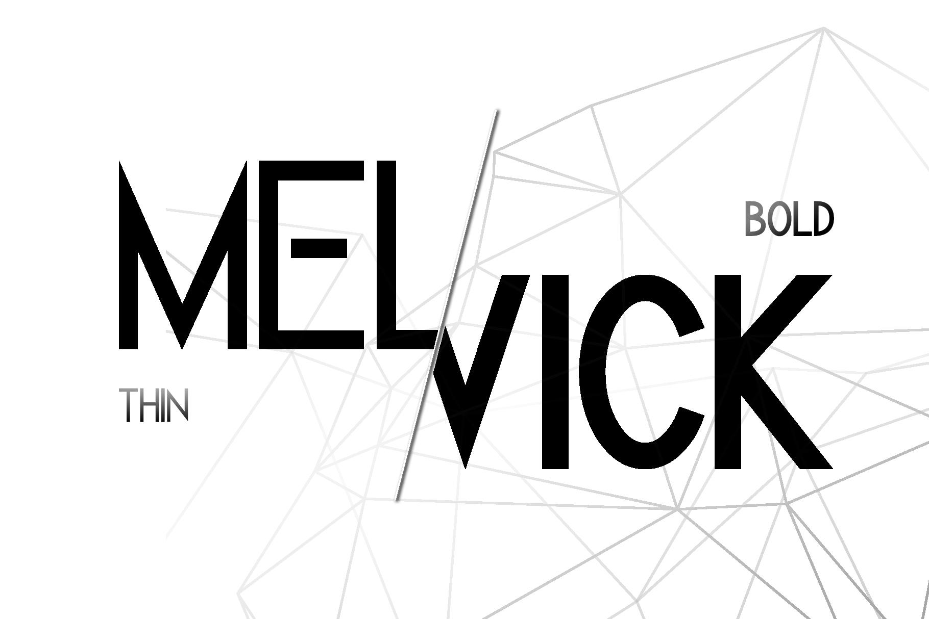 Melvick - 12 Font Family & EXTRA LOGO example image 2