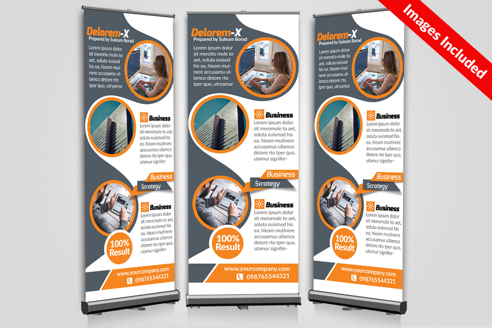 Business Roll Up Banner print Templates example image 1