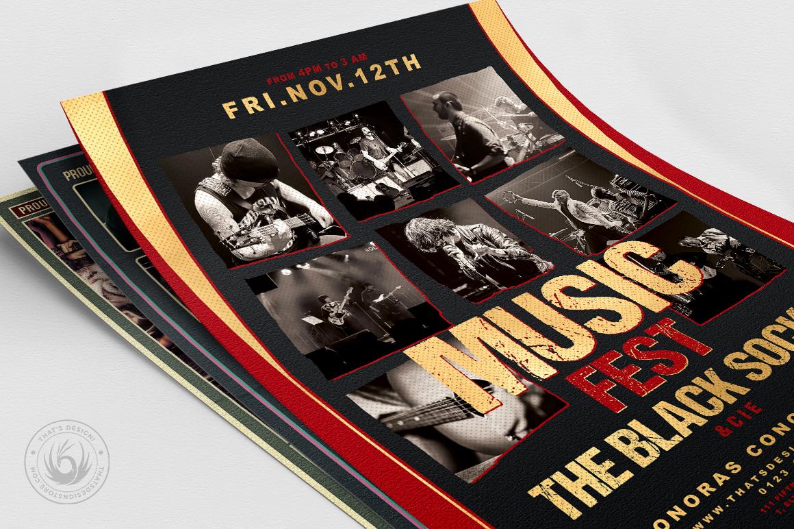 Concert Live Flyer Bundle V6 example image 5