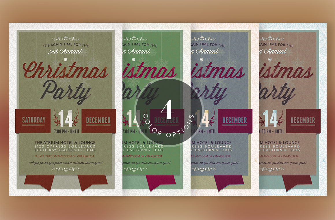 Christmas Party Invitation Template example image 5
