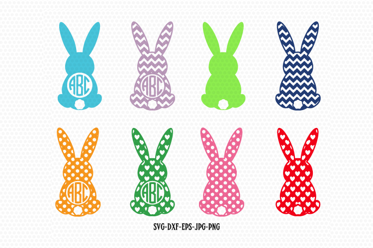 Easter Bunnies Monogram frames example image 1