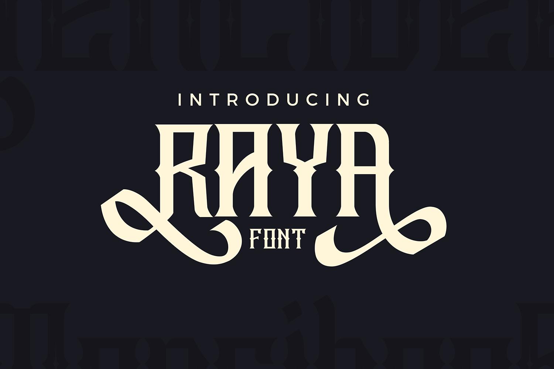 RAYA FONT  example image 4