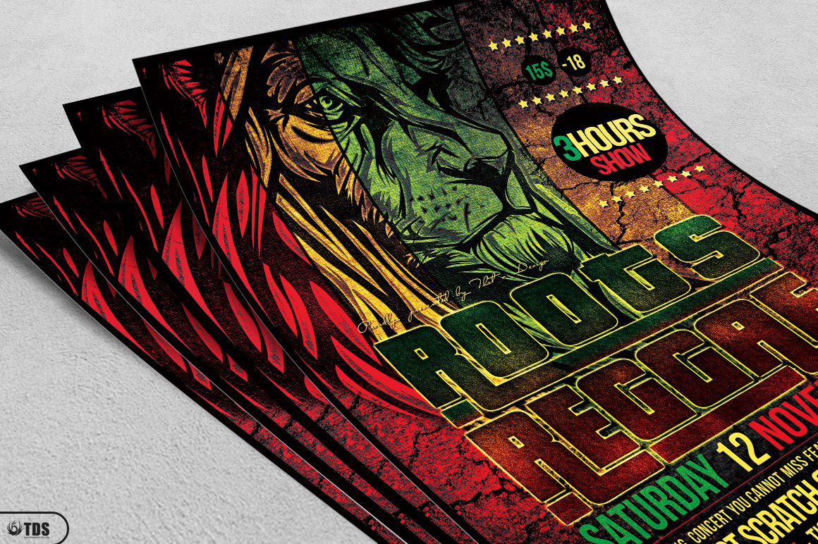 Roots Reggae Flyer Template example image 3