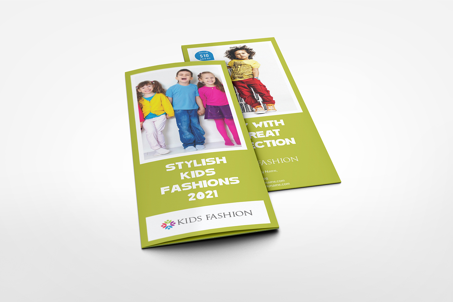 Kids Fashion Products Catalog Tri-Fold Brochure Tempalte example image 5