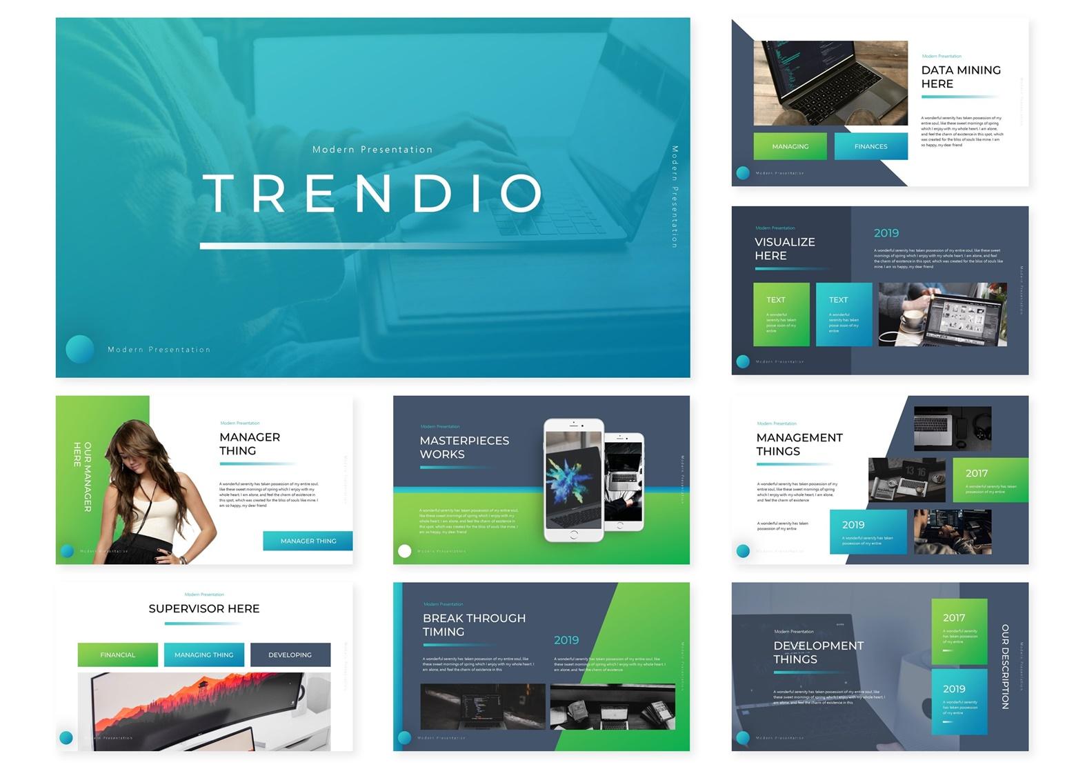 Trendio   Powerpoint, Keynote, GoogleSlides Template example image 4