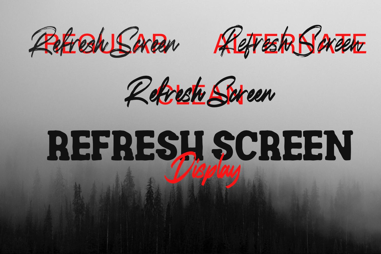 Refresh Screen Brush Script Font Duo example image 2