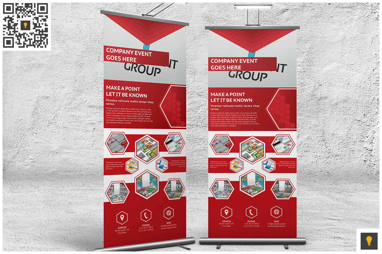 Professional Corporate Hive Roll-Up Banner example image 5
