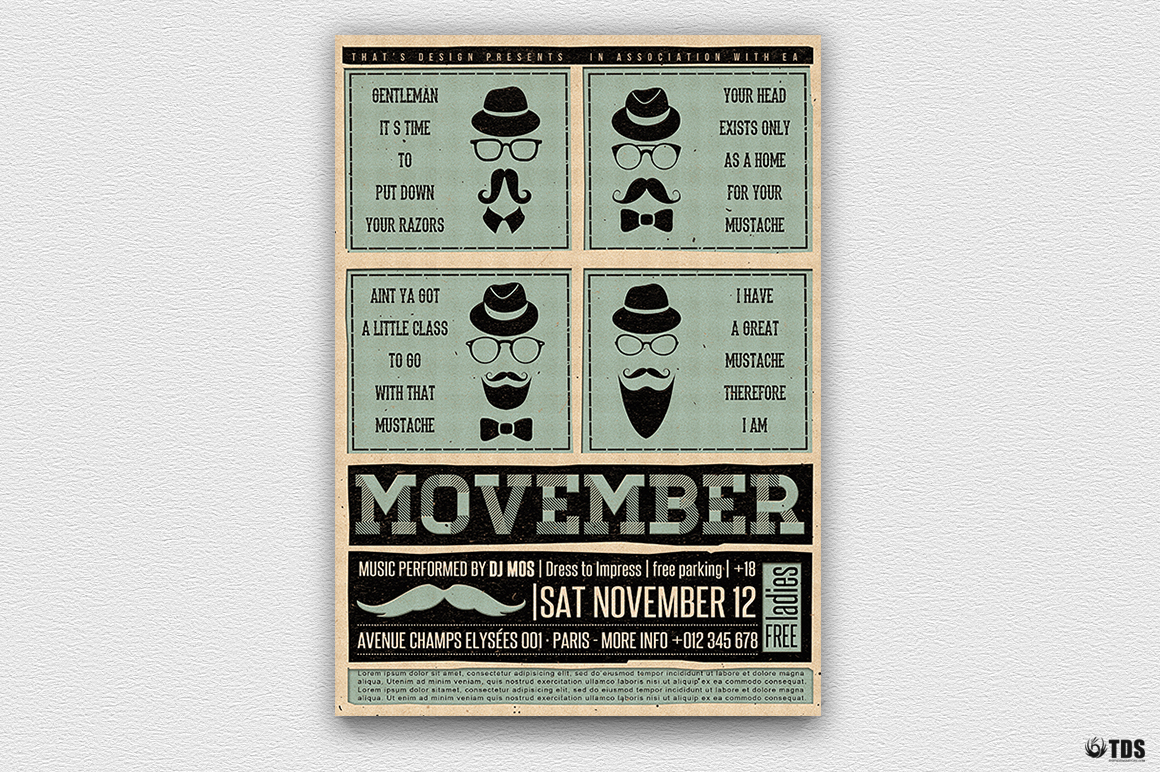 Movember Flyer Template V1 example image 7