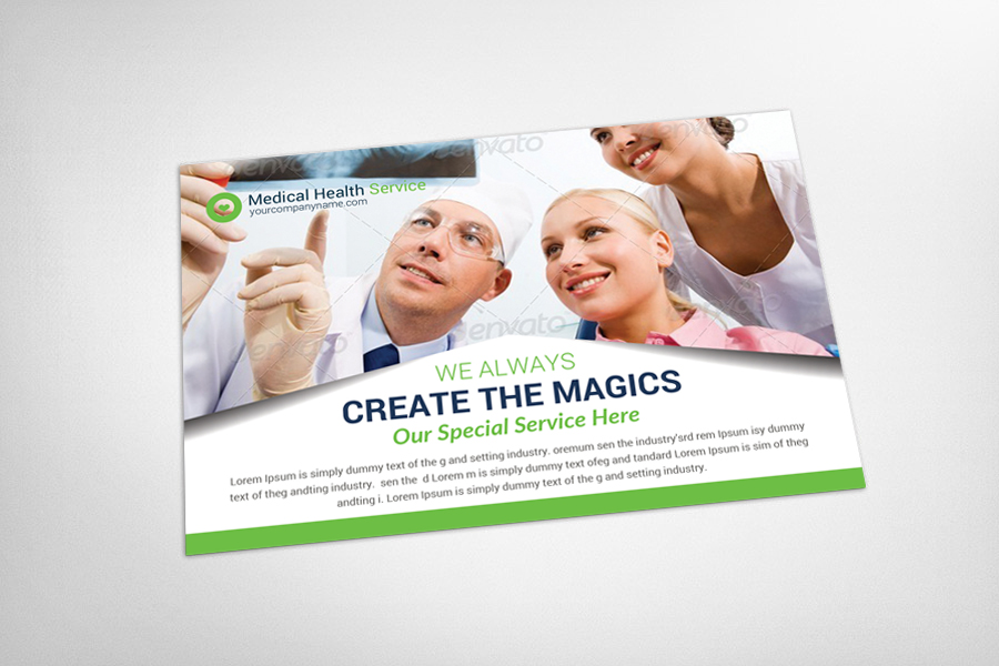 Medical Health Service Postcard Template example image 3