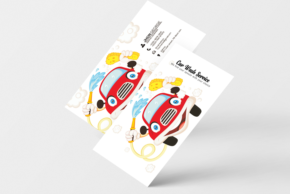 Car Wash Business Card example image 4