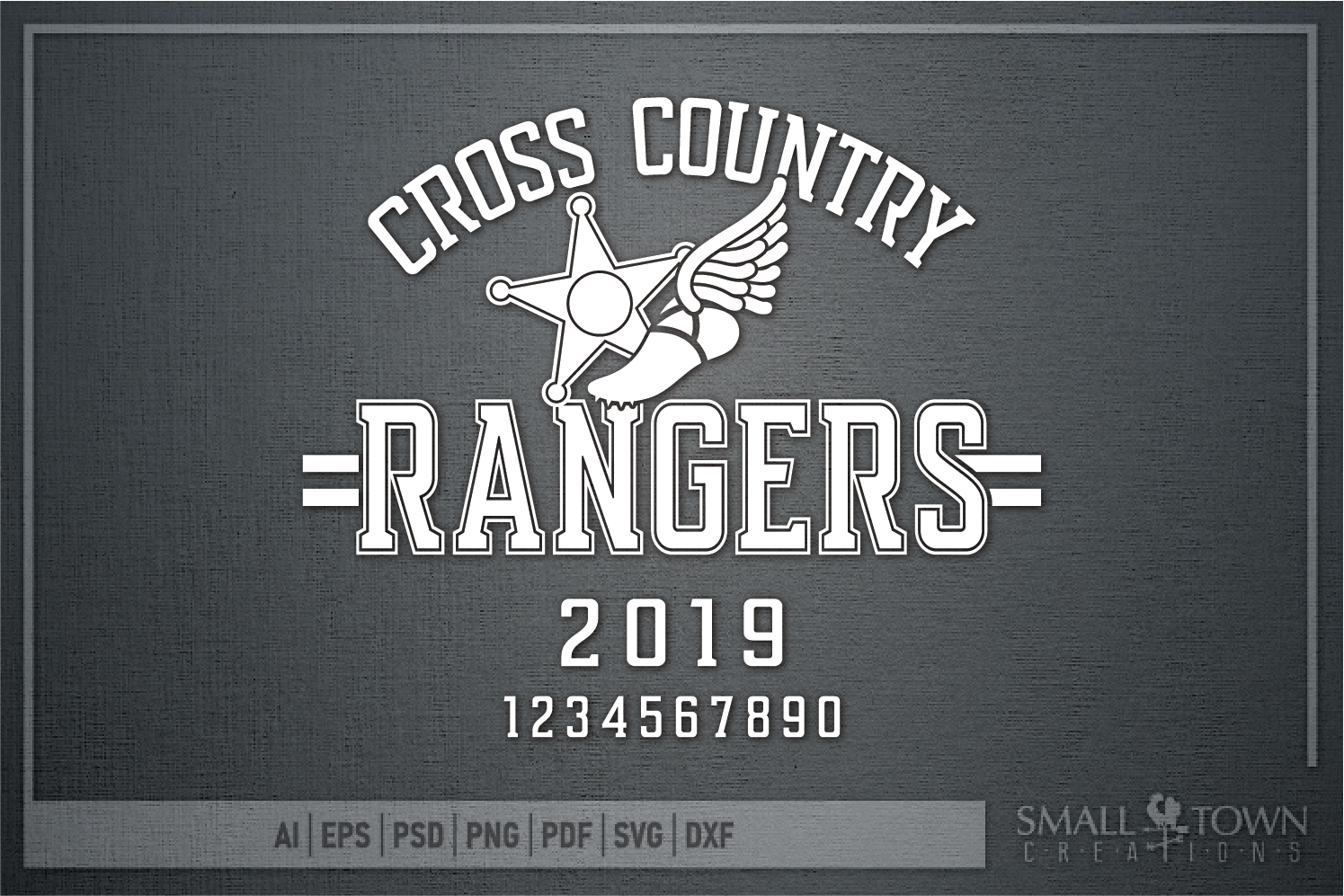 Ranger Cross Country, Sports, Logo, PRINT, CUT & DESIGN example image 5