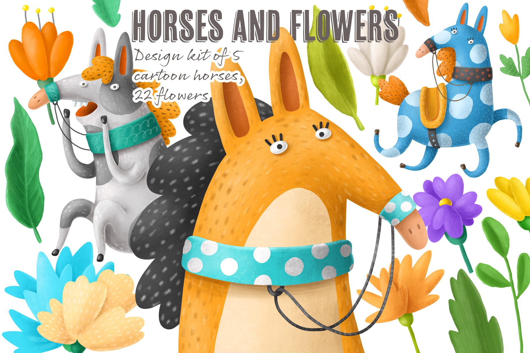 Flowers and Horses example image 4